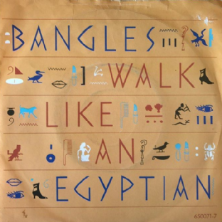 "Bangles ‎- Walk Like An Egyptian (7"") (VG/G+)"